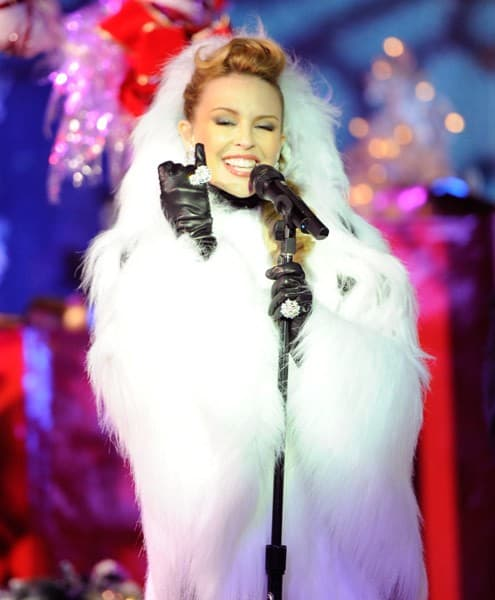 Kylie Minogue performs at the 2010 Rockefeller Center tree lighting at Rockefeller Center on November 30, 2010 in New York City.