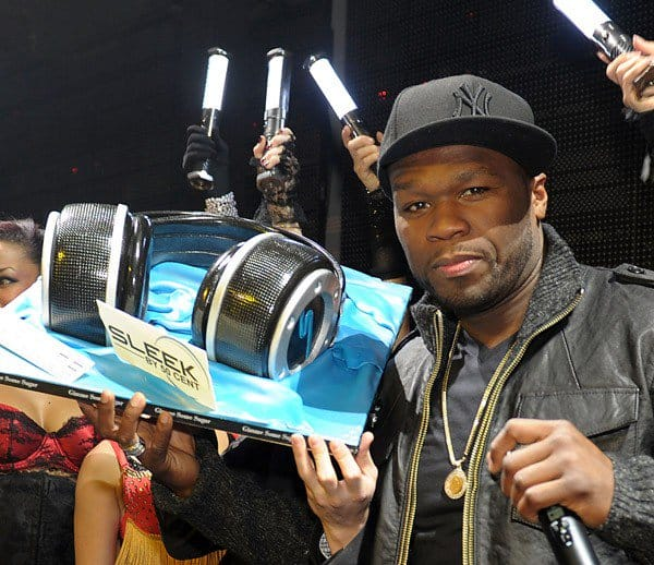 50 Cent Attends the 50 Cent Releases Sleek By 50 Cent Wireless Headphones Event at Marquee Nightclub In The Cosmopolitan on January 7, 2011 in Las Vegas, Nevada.