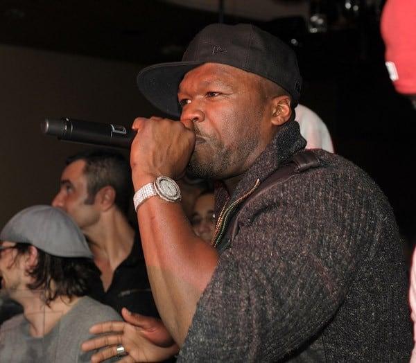 50 Cent performs at the 50 Cent Releases Sleek By 50 Cent Wireless Headphones Event at Marquee Nightclub In The Cosmopolitan on January 7, 2011 in Las Vegas, Nevada.