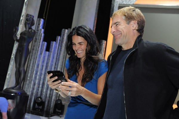 Angie Harmon, Scott Bakula and JoBeth Williams during rehearsals for the TNT/TBS' 17th Annual Screen Actor Guild Awards ceremony and gala event at the Shrine Expo Center on January 28, 2011 in Los Angeles, California.