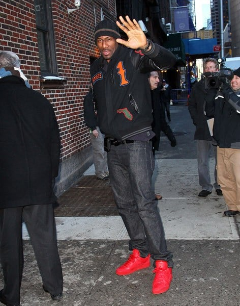 NBA Player Amar'e Stoudemire visits 'Late Show With David Letterman' at the Ed Sullivan Theater on January 13, 2011 in New York City.