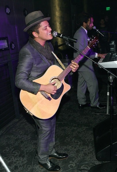 Bruno Mars Hosts New Year's Day at Haze Nightclub on January 1, 2011 in Las Vegas, Nevada.