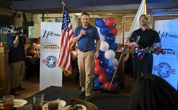 Lifetime TV's Brian McNamara hosts a special lunch for Army wives during the 'Thanks For Giving' event at Outback Steakhouse on January 30, 2011 in Savannah, Georgia.