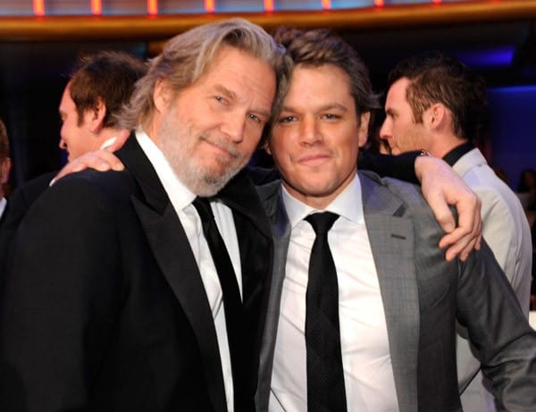 Jeff Bridges and Matt Damon attend the 16th Annual Critics Choice Movie Awards at the Hollywood Palladium on January 14, 2011 in Los Angeles, California.