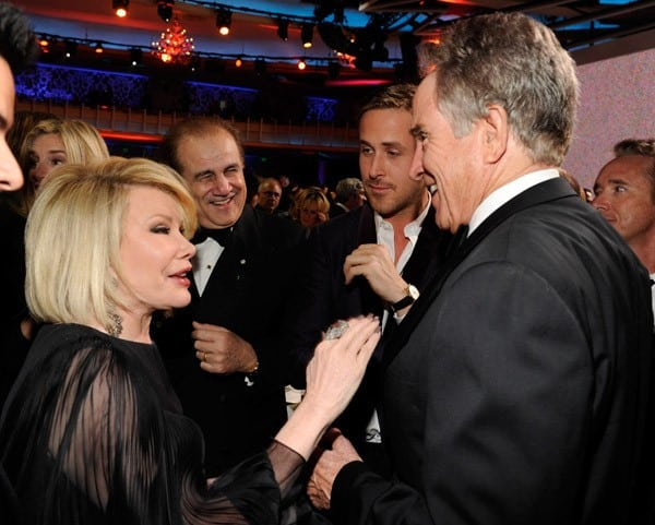 Joan Rivers and Warren Beatty attend the 16th Annual Critics Choice Movie Awards at the Hollywood Palladium on January 14, 2011 in Los Angeles, California.