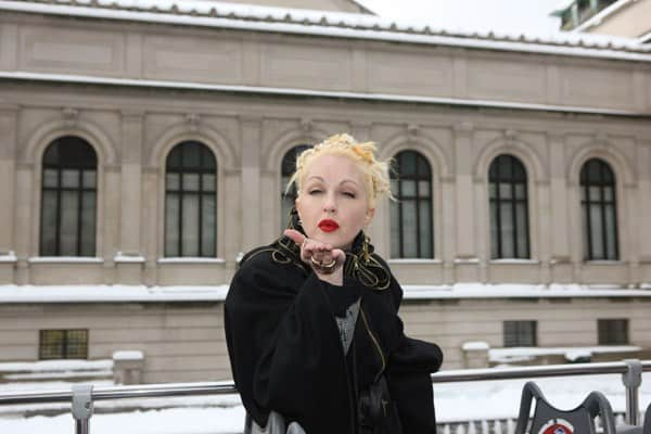 Recording artist Cyndi Lauper attends Gray Line New York's Ride of Fame ribbon cutting ceremony at The Metropolitan Museum of Art on January 27, 2011 in New York City.