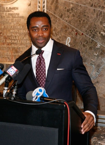 Curtis Martin visits The Empire State Building on January 21, 2011 in New York City.
