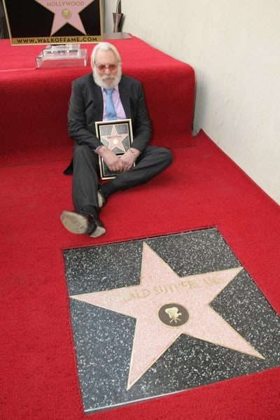 Donald Sutherland at the Hollywood Walk of Fame Star Ceremony honoring Donald Sutherland on January 26, 2011 in Hollywood, California.
