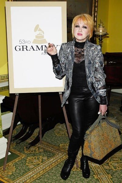 Singer Cyndi Lauper attends the New York Chapter GRAMMY nominee reception hosted by Mayor Michael Bloomberg at Gracie Mansion on January 20, 2011 in New York City.