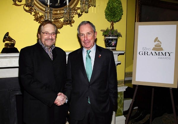 Producer Phil Ramone and New York City Mayor Michael Bloomberg attend the New York Chapter GRAMMY nominee reception hosted by Mayor Michael Bloomberg at Gracie Mansion on January 20, 2011 in New York City.