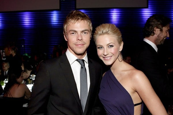 Derek Hough and Julianne Hough attend the Grey Goose Toasts the Art of Elysium Heaven Gala on January 15, 2011 in Los Angeles, California.