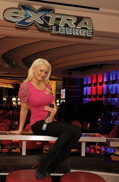 Holly Madison on the 'Extra' set at Planet Hollywood Resort and Casino on January 29, 2011 in Las Vegas, Nevada.
