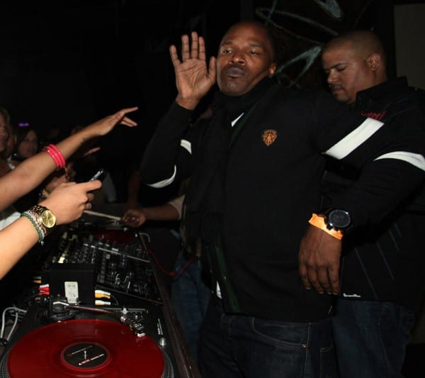 Jamie Foxx hosts a party for his new album 'Intuition' at Karu & Y on January 1, 2011 in Miami, Florida.