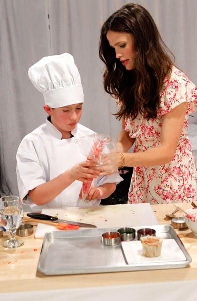 Actress Jennifer Garner and Frigidaire Launch The Kids' Cooking Academy to inspire families everywhere to get cooking together held at Smashbox Studios on January 18, 2011 in Los Angeles, California.