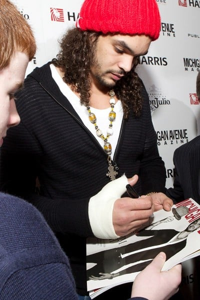 Joakim Noah attends the Michigan Avenue cover party presented by Harris Bank hosted by Joakim Noah of The Chicago Bulls at Public House on January 26, 2011 in Chicago, Illinois.