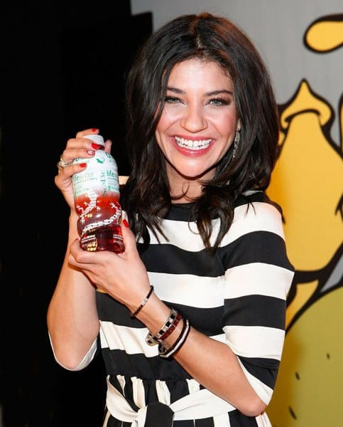 Jessica Szohr attends the 2011 SoBe Lifewater Skinsuit Model unveiling at C&C Studios on January 6, 2011 in New York City.
