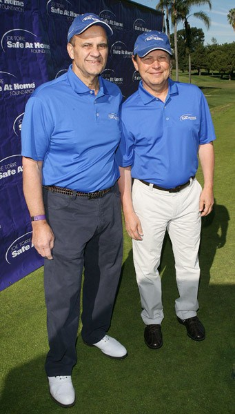 Joe Torre and Billy Crystal attend the Joe Torre Safe At Home Foundation 2011 Golf Classic at the Wilshire Country Club on January 24, 2011 in Los Angeles, California.