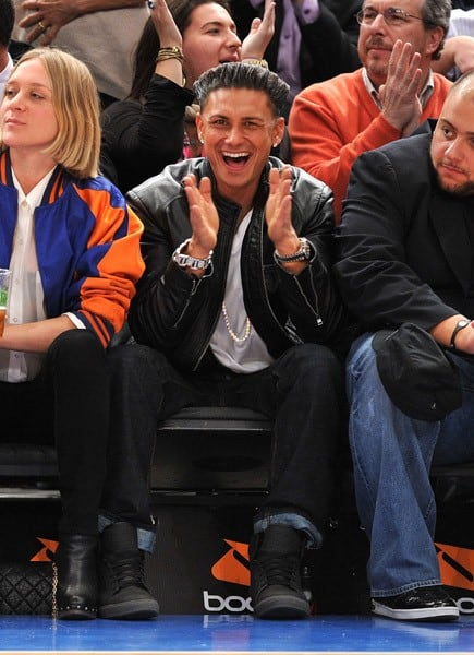 Paul 'Pauly D' DelVecchio attends the San Antonio Spurs vs New York Knicks game at Madison Square Garden on January 4, 2011 in New York City.