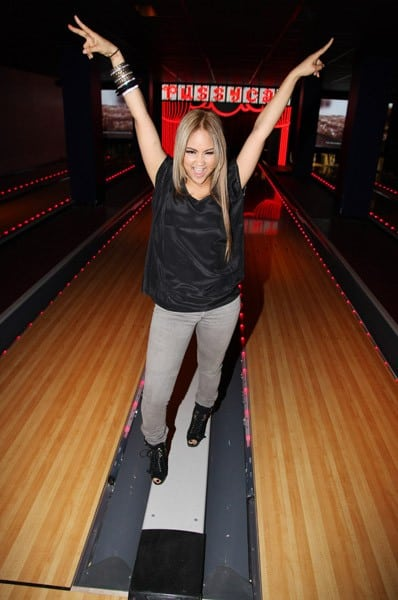 Kat DeLuna visits Bowlmor Times Square on January 8, 2011 in New York City.
