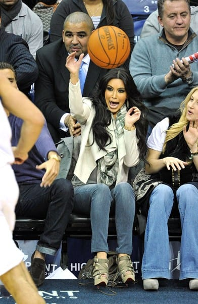 Kim Kardashian attends the Utah Jazz vs New Jersey Nets game at the Prudential Center on January 19, 2011 in Newark, New Jersey.