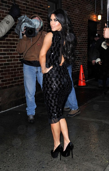 Kim Kardashian visits 'Late Show With David Letterman' at the Ed Sullivan Theater on January 18, 2011 in New York City.