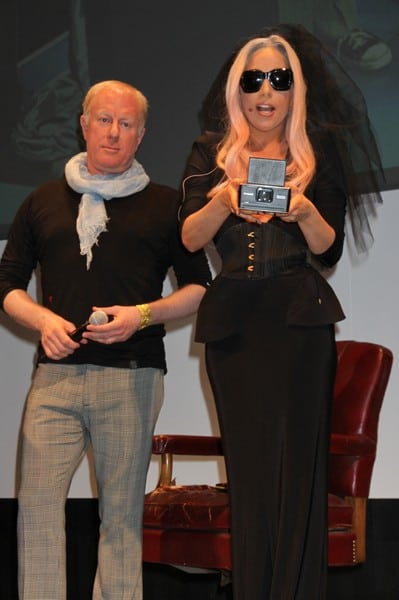 Lady Gaga Unveils Polaroid's Grey Label Product Line at the 2011 International Consumer Electronics Show in Las Vegas, Nevada on January 6, 2011.