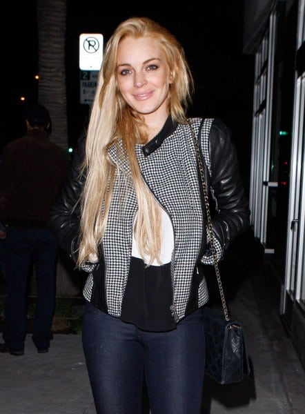 Lindsay Lohan spotted on January 12, 2011 in Los Angeles, California.