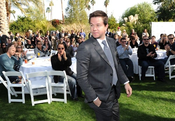 Actor Mark Wahlberg receives an award at Variety's Indie Impact and 10 Directors to Watch Brunch at Palm Springs International Film Festival at the Parker Palm Springs on January 9, 2011 in Palm Springs, California.