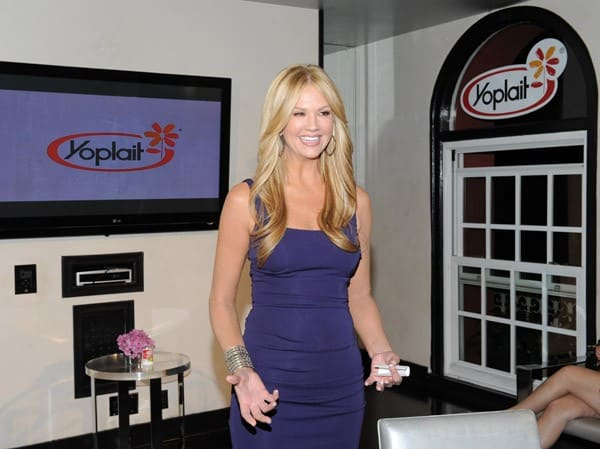 TV Host Nancy O'Dell attends the Yoplait Original Yogurt 'Calcium In Every Cup' party held at The Roosevelt Hotel on January 27, 2011 in Hollywood, California.