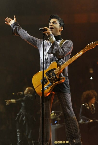 Prince performs during his 'Welcome 2 America' tour at Madison Square Garden on January 18, 2011 in New York City.