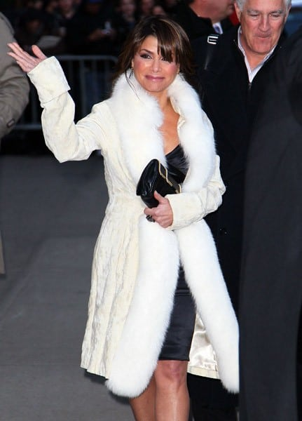 Paula Abdul visits 'Late Show With David Letterman' at the Ed Sullivan Theater on January 3, 2011 in New York City.