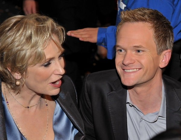 Jane Lynch and Neil Patrick Harris attend the 2011 People's Choice Awards at Nokia Theatre L.A. Live on January 5, 2011 in Los Angeles, California.