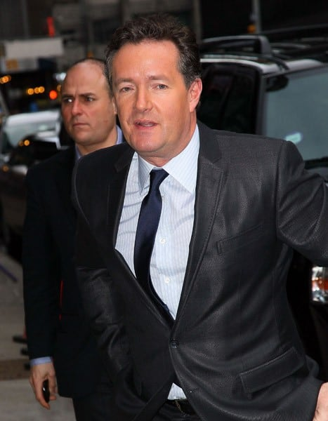Television personality Piers Morgan visits 'Late Show with David Letterman' at Ed Sullivan Theater on January 20, 2011 in New York City.