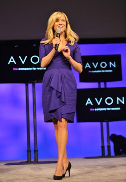 Avon's Global Ambassador Reese Witherspoon celebrates the company's 125th Anniversary during the 2011 Avon Global Believe Tour on January 25, 2011 in Atlanta, Georgia.