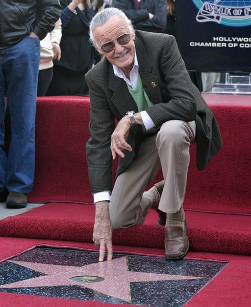 Comic book publisher Stan Lee and his wife Joan Lee attend the Stan Lee Hollywood Walk Of Fame Induction Ceremony on January 4, 2011 in Hollywood, California.