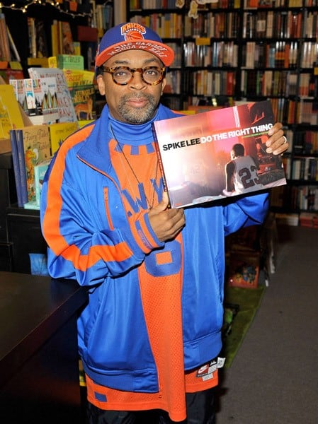 Director Spike Lee signs copies of his book 'Do The Right Thing' at Book Soup on January 9, 2011 in West Hollywood, California.