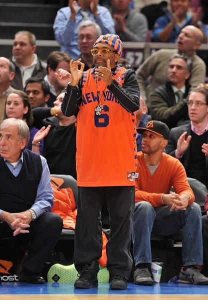 Spike Lee attends the Washington Wizards vs New York Knicks game at Madison Square Garden on January 24, 2011 in New York City.
