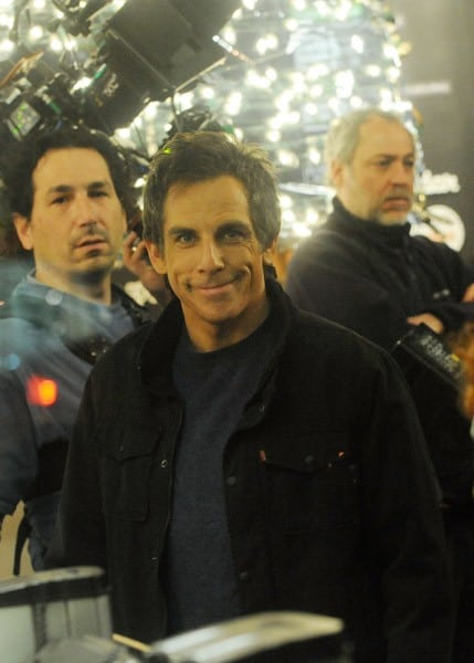 Michael Pena, Ben Stiller and Director Brett Ratner film on location for 'Tower Heist' on the Streets of Manhattan on January 14, 2011 in New York City.