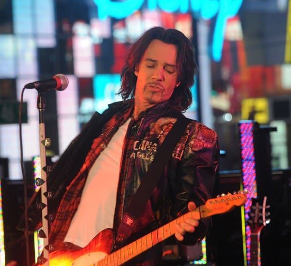 Singer Rick Springfield performs on stage during New Year's Eve in Times Square on December 31, 2010 in New York City.