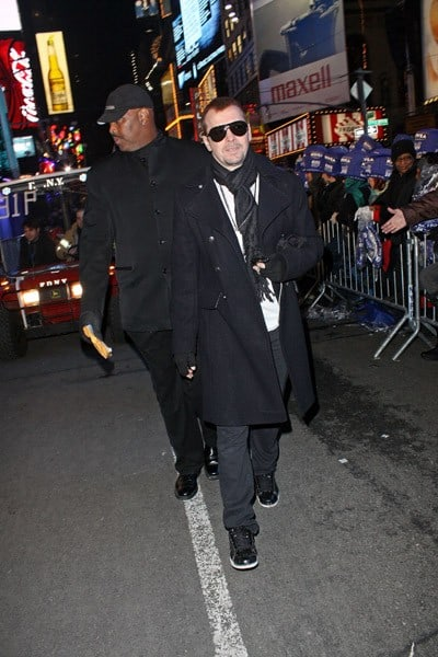 Donnie Wahlberg celebrates New Year's Eve in Times Square on December 31, 2010 in New York City.
