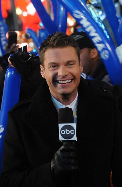 Ryan Seacrest celebrates New Year's Eve in Times Square on December 31, 2010 in New York City.