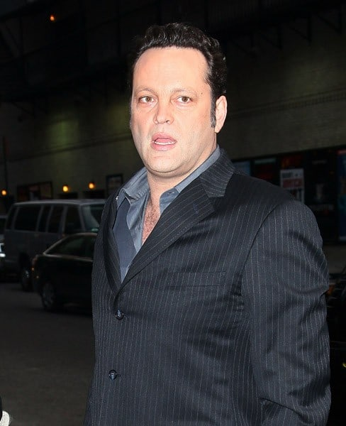 Actor Vince Vaughn visits 'Late Show With David Letterman' at the Ed Sullivan Theater on January 11, 2011 in New York City.