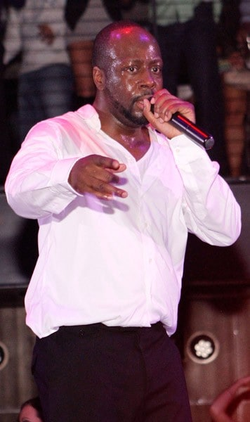 Singer Wyclef Jean performs at Haze Nightclub in Aria at CityCenter on January 29, 2011 in Las Vegas, Nevada.