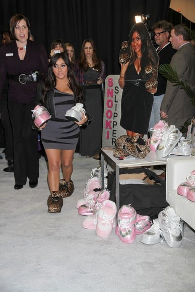 Nicole 'Snooki' Polizzi Promotes Her 'Snooki's Slippers' Shoe Line at the 2011 MAGIC Fashion and Apparel Trade Show at the Las Vegas Convention Center in Las Vegas, Nevada on February 15, 2011