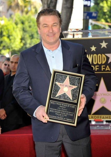 Actor Alec Baldwin receives a star during his Hollywood Walk of Fame Induction Ceremony on February 14, 2011 in Hollywood, California.