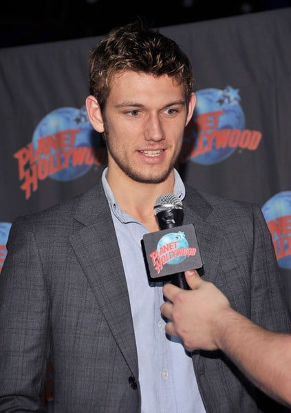 Actor Alex Pettyfer visits Planet Hollywood on February 7, 2011 in New York City.