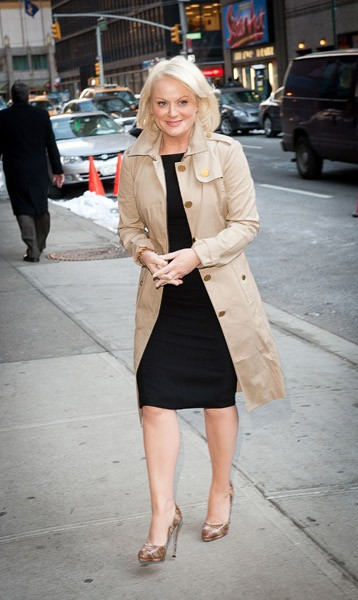 Actress Amy Poehler visits 'Late Show With David Letterman' at the Ed Sullivan Theater on February 22, 2011 in New York City.