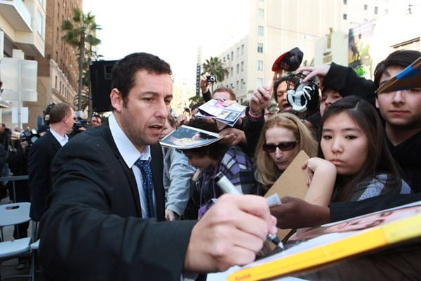 Adam Sandler at the Adam Sandler Hollywood Walk of Fame Star Ceremony on February 1, 2011 in Hollywood, California.