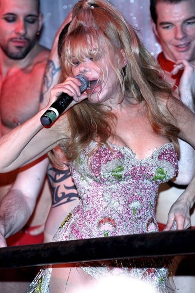 Charo performs at Splash Bar on February 25, 2011 in New York City.