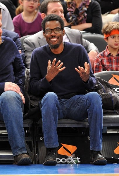 Chris Rock attends the Milwaukee Bucks vs New York Knicks game at Madison Square Garden on February 23, 2011 in New York City.